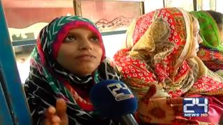 Bus journey becomes painful for women in Karachi
