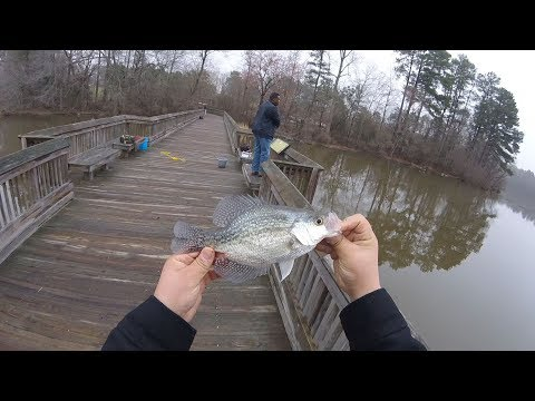 Winter 2018 Fishing Various Spots for Winter Bluegill and Crappie
