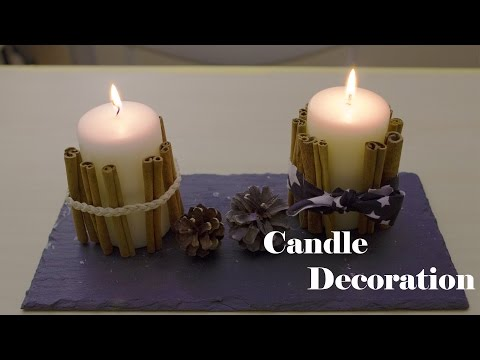 Cinnamon Stick Candle ideas - 3rd day of Christmas decorations