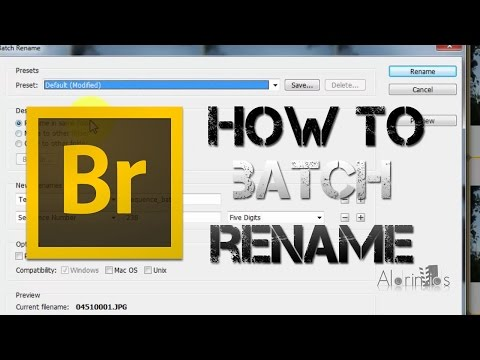 How to rename multiple images at once BATCH RENAMING using adobe bridge