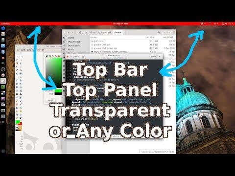 Ubuntu GNOME: Change Color TOP BAR | PANEL or Transparent It