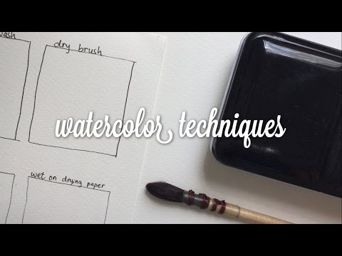 watercolor techniques (for beginners)