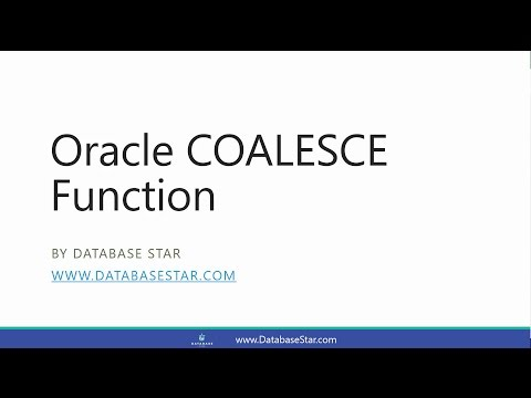 Oracle COALESCE Function