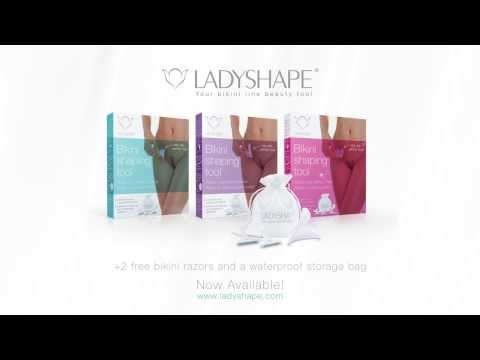 Ladyshape bikini shaping tools -How to shave the perfect shape in 3 easy steps-