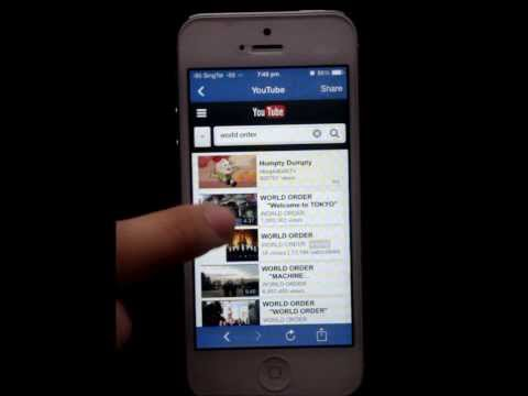 How To Play Song From Youtube On iphone 5 Locked Screen!