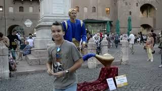 Genie Magic Lamp Levitation |  Street Performer