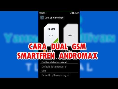 Cara DUAL GSM SMARTFREN ANDROMAX