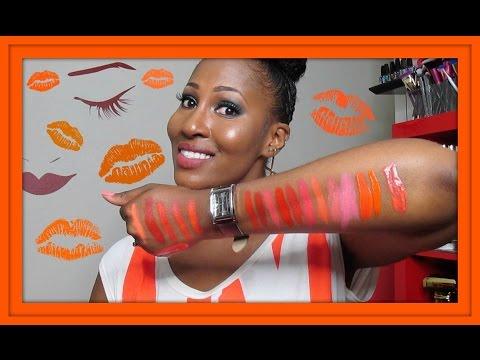 My Orange Lipstick Collection!!