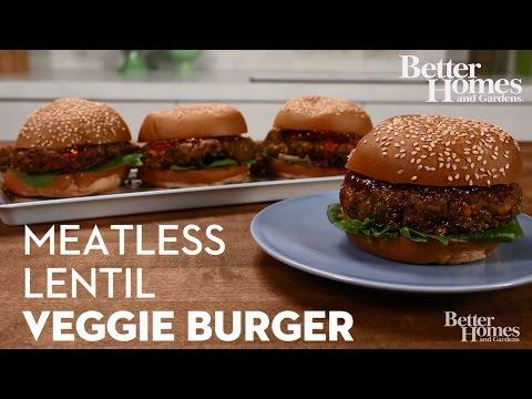 Meatless Lentil Veggie Burger