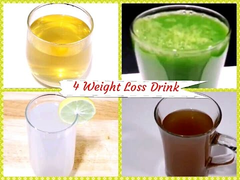 4 Quick Weight Loss Drink / Fat Cutter Drink / Flat Belly Drink / Ditox Water/ Weight Loss Tea