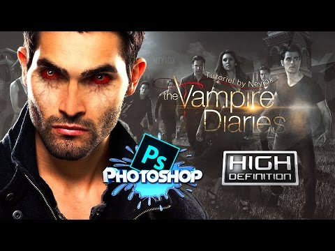 Photoshop Tutorial - How to make Eyes like Vampire Diaries [HD]
