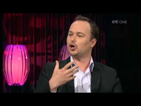 Benny encouraging language learners on RTE's The Saturday Night Show