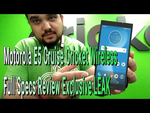 Motorola MOTO E5 Cruise Cricket Wireless Full Specs Review Exclusive LEAK ARRIVES MAY 25TH