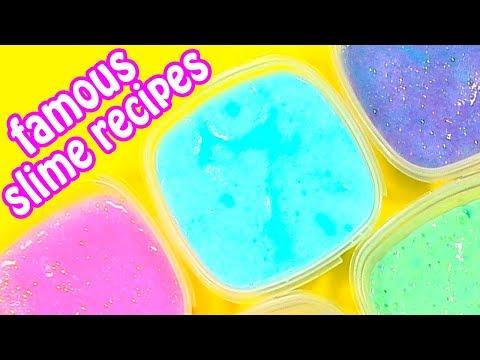 8 DIY FAMOUS SLIME RECIPES! How to Make Slime NO Borax!