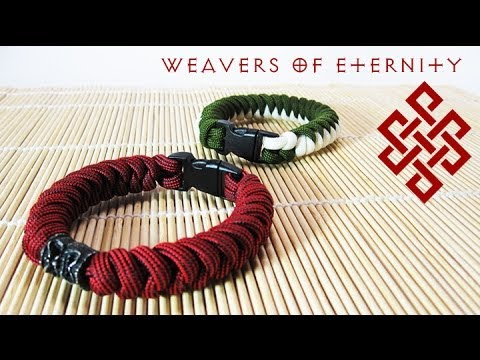 How to Tie a Snake Knot Paracord Bracelet with Buckles Tutorial