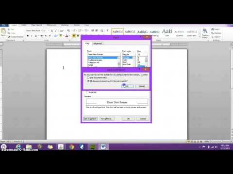 How to set default font, font size and spacing for all doc in Microsoft Word