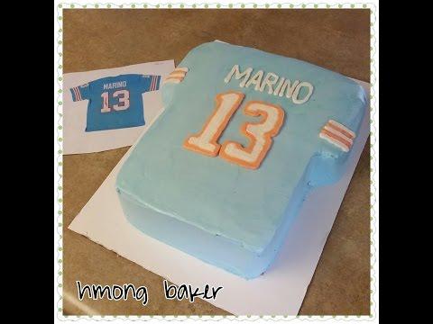Miami Dolphin Football Jersey Cake. T-shirt Cake