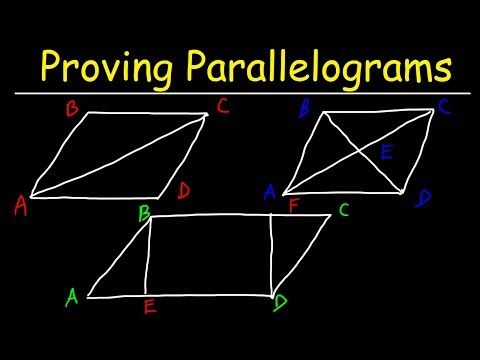 Proving Parallelograms With Two Column Proofs - Geometry