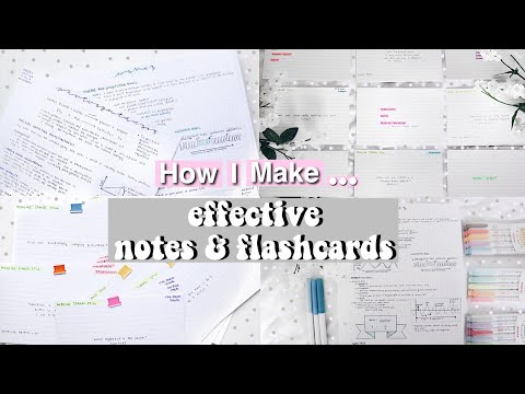 How I Make Effective Notes and Flashcards!