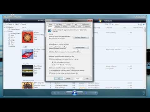 Tutorial: WIndows Media player: Set up Media Server on PS3