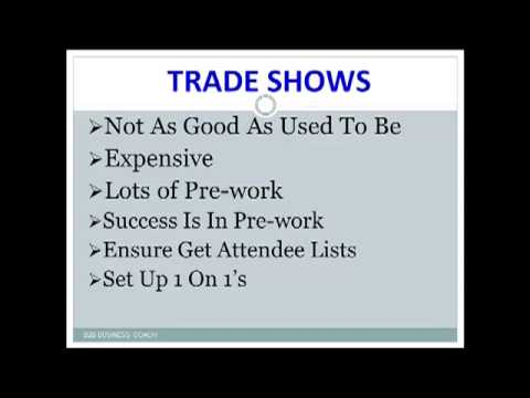 B2B Lead Generation using Trade Shows & User Groups for Social Media