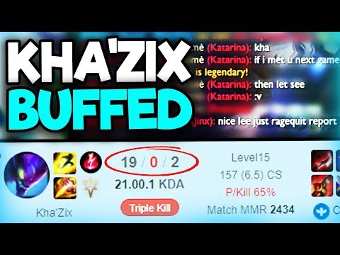 NEW KHA'ZIX BUFFS!! THE ENEMY RAGEQUIT!! RIOT WHAT WERE YOU THINKING!?!? (League of Legends)