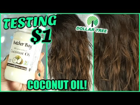 TESTING $1 DOLLAR STORE COCONUT OIL ON MY HAIR!!│TESTING DOLLAR TREE HAIR OIL - WORTH IT OR TOSS IT