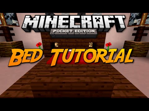 Minecraft: Pocket Edition Tutorial - How To Build A Bed Frame (3 Designs)
