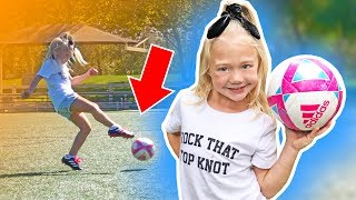 Everleigh's First Ever Soccer Practice!!! (SO CUTE)