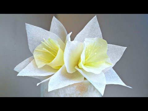 Daffodils Narcissus crepe paper flower for decoration arts and crafts paper flowers easy for kids