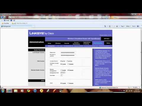 How to re-configure a Linksys Router