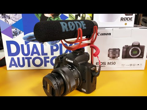 Canon EOS M50 Video Creator Kit w/ Rode Videomic Go Unboxing (Best YouTube/Vlogging Camera?)