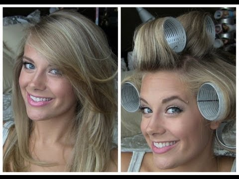 Voluminous Hair with Velcro Rollers