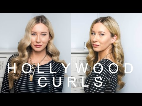 Smooth & Shiny Hollywood Curls | She Goes Wear