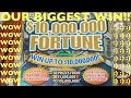 OMG BIGGEST WIN ON BIGGEST SCRATCHER EVER!!! $10,000,000 FORTUNE SCRATCHER