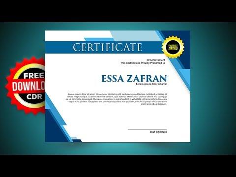 Certificate Design with Coreldraw Tutorials