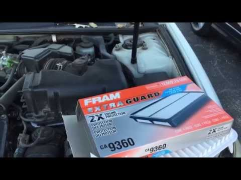 Toyota Camry 2002 2003 2004 2005 2006 air filter replacement DIY V6