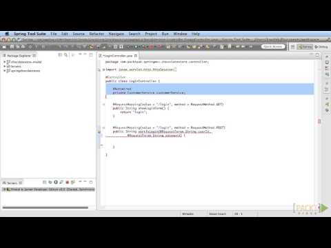 Building Web Applications with Spring MVC Tutorial : Login Functionality | packtpub.com