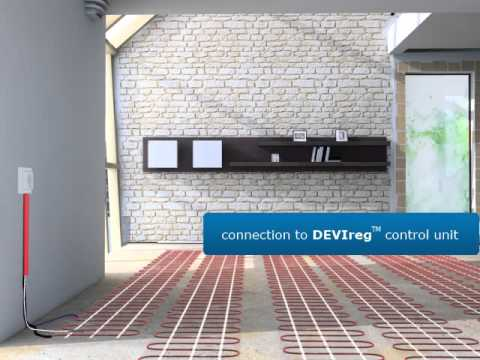 DEVI - Installation of electric floor heating mats