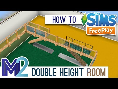 Sims FreePlay - How to Build Double Height Rooms (Tutorial & Walkthrough)