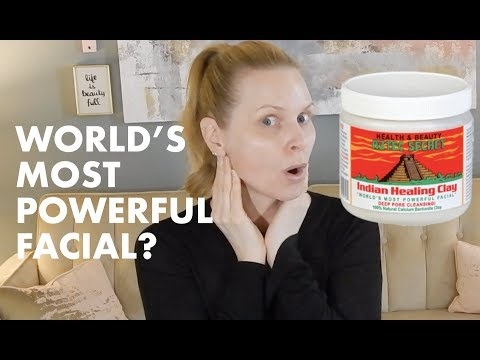 WORLD'S MOST POWERFUL FACIAL MASK? Indian Healing Clay First Impression | skip2mylou