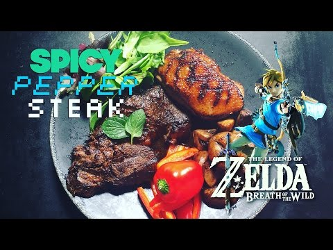 Spicy Pepper Steak from Zelda Breath of the Wild - How to Make