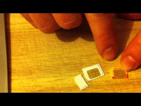 how to cut iphone 4 sim card