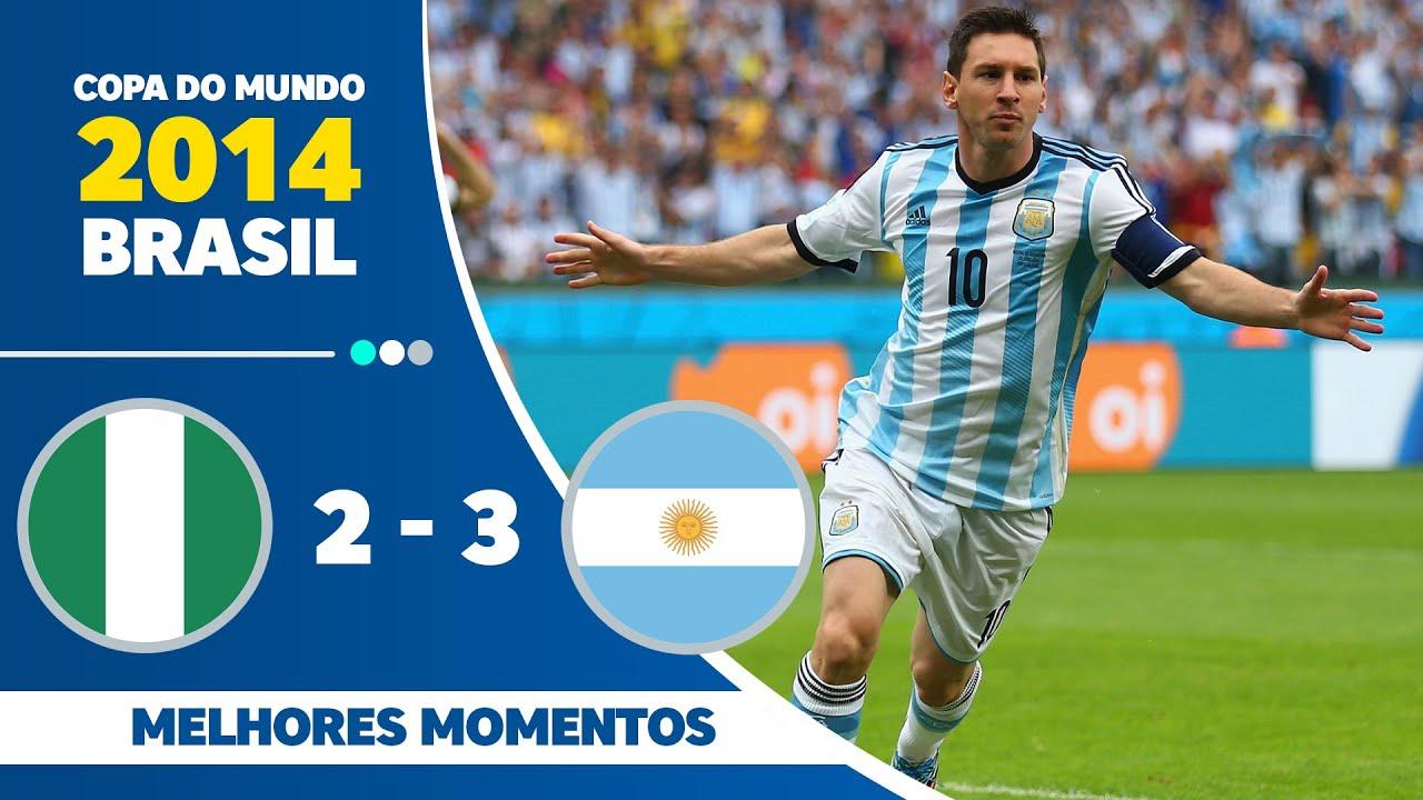 Nigéria 2 x 3 Argentina - melhores momentos (GLOBO FULLHD 1080p) Copa do Mundo Brasil 2014 (25/06)