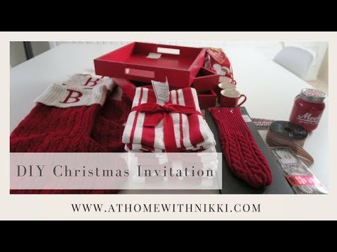 DIY HOLIDAY 2017 GIFT IDEAS | MY 2017 CHRISTMAS GIFT INVITATION