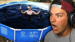 Dude Fills Pool With Cocacola