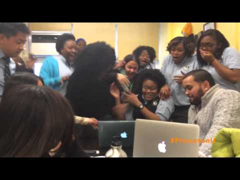 High School Student Learns She's Accepted to Princeton