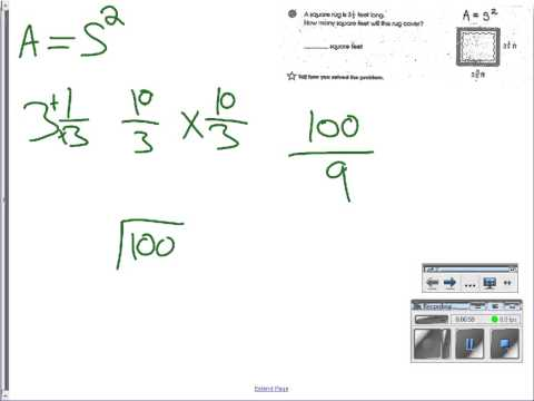 Lexi: area of a rectangle with fractions