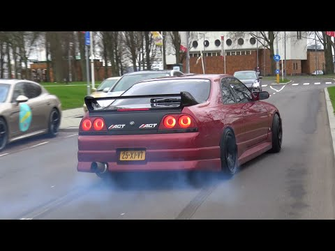 Nissan Skyline R33 GTS-T - Burnout & Crazy Sounds!