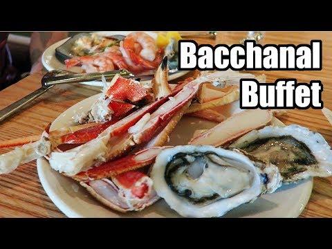 Bacchanal Dinner Buffet Review, Caesars Palace, Las Vegas Nevada! May 2018